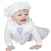 Boys White/Blue Anchor 5pce Satin Christening Suit